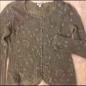J. Jill Crochet Cardigan
